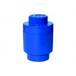 LEGO úložný box kulatý 123x183mm - modrý