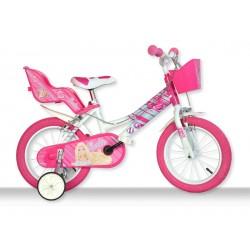 """DINO Bikes - Dětské kolo 14"""" Barbie"""