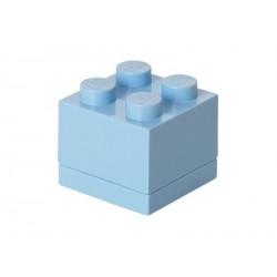 LEGO mini box 46x46x43mm - světle modrý